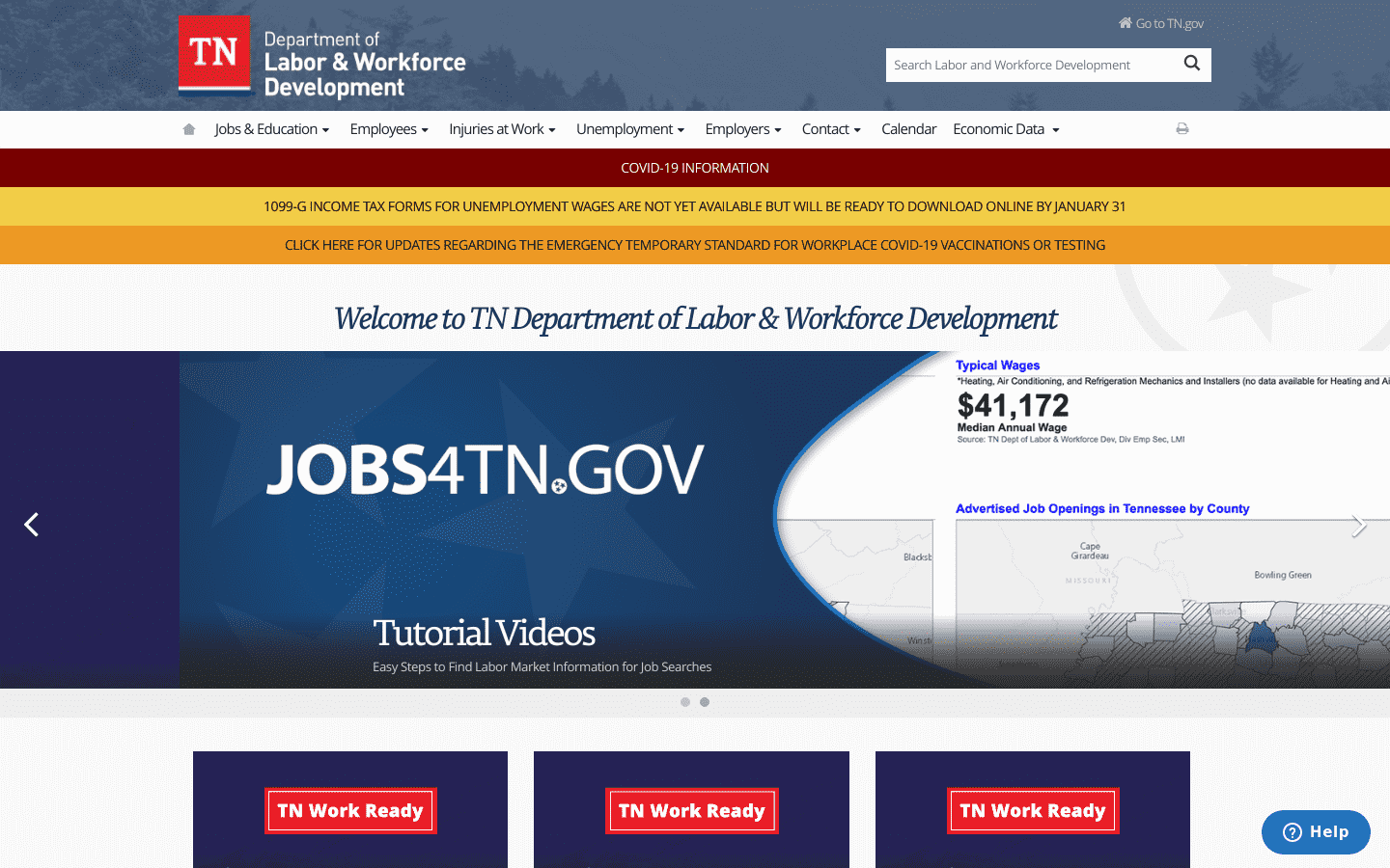 Tennessee Department Of Labor And Workforce Development reviews and complaints