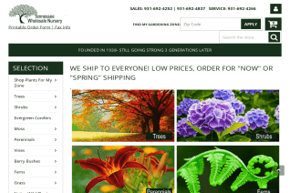 Tennessee Wholesale Nursery reviews and complaints