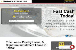Texas Car Title And Payday Loan Services reviews and complaints