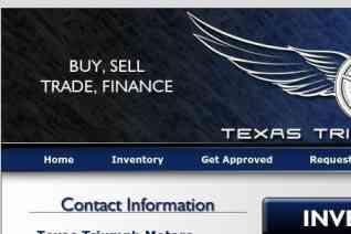 Texas Triumph Motors reviews and complaints