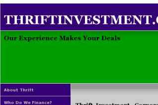 Thrift Investment reviews and complaints