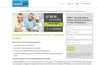 Timeshare Relief reviews and complaints