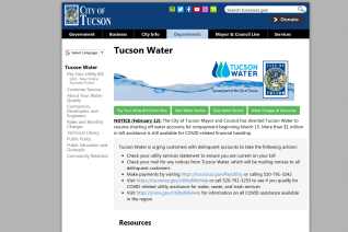 Tucson Water reviews and complaints