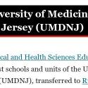 UMDNJ reviews and complaints