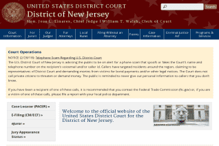 United States District Court for the District of New Jersey reviews and complaints