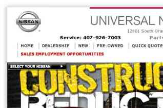 Universal Nissan reviews and complaints