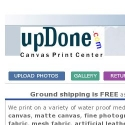 Updone Canvas Printing