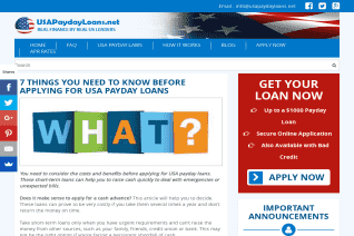 UsaPaydayLoans Net reviews and complaints