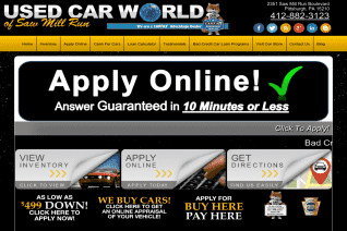 Used Car World Of Saw Mill Run reviews and complaints