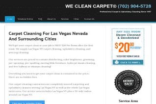 We Clean Carpets Of Las Vegas reviews and complaints