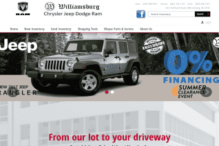Williamsburg Chrysler Jeep Dodge Ram reviews and complaints