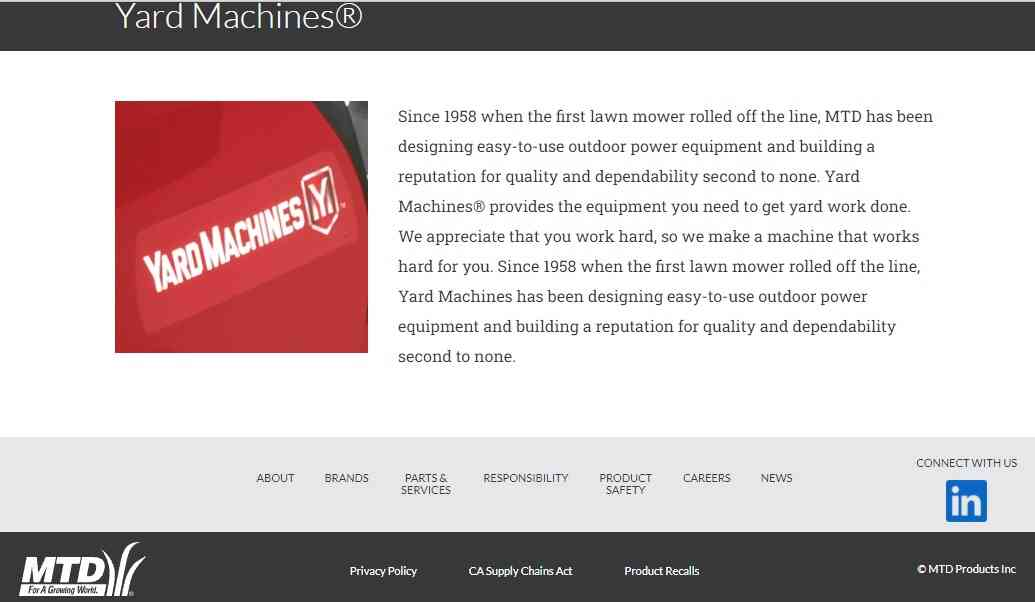 Yard Machines reviews and complaints