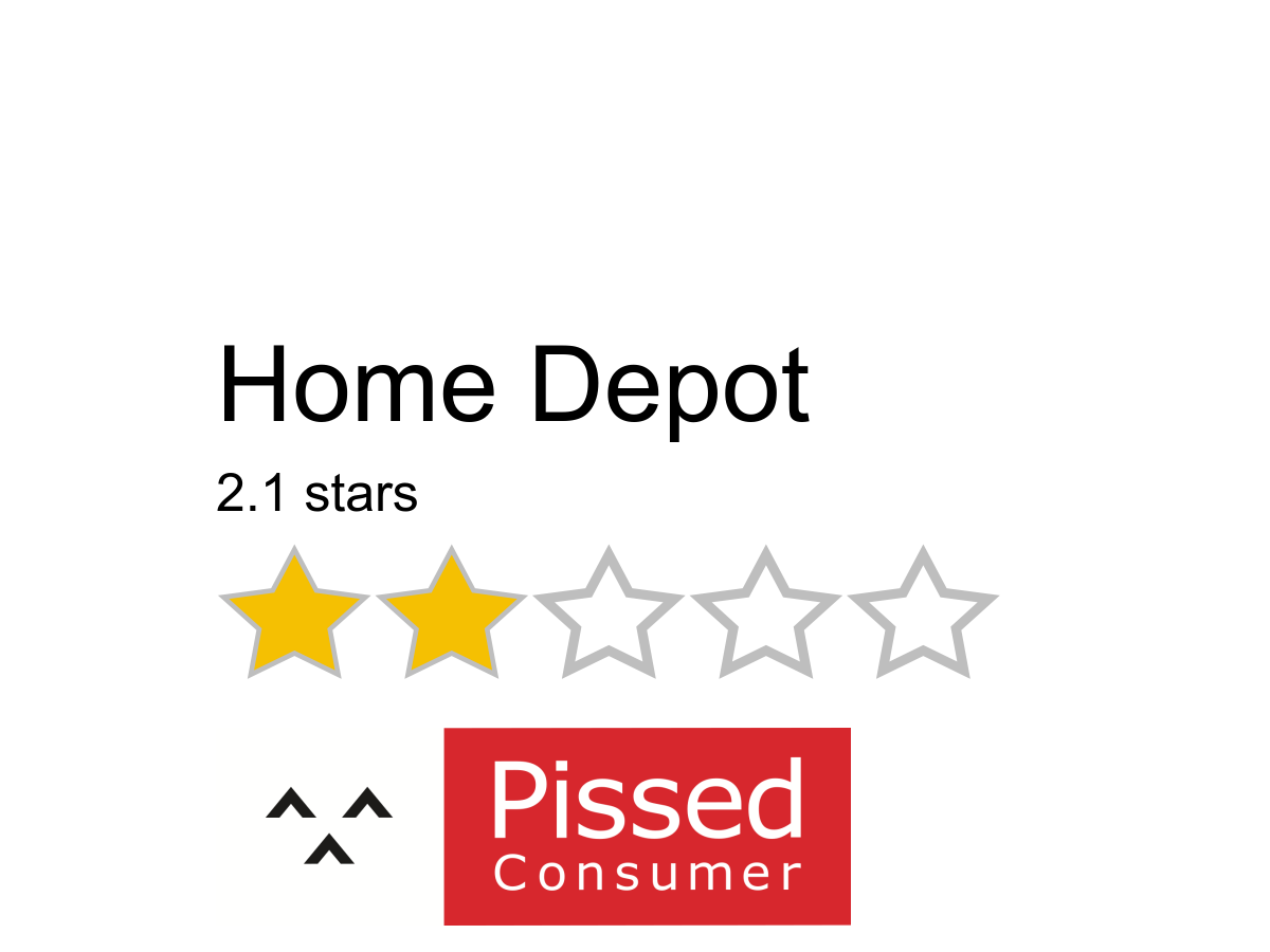3022 Home Depot Reviews And Complaints Pissed Consumer