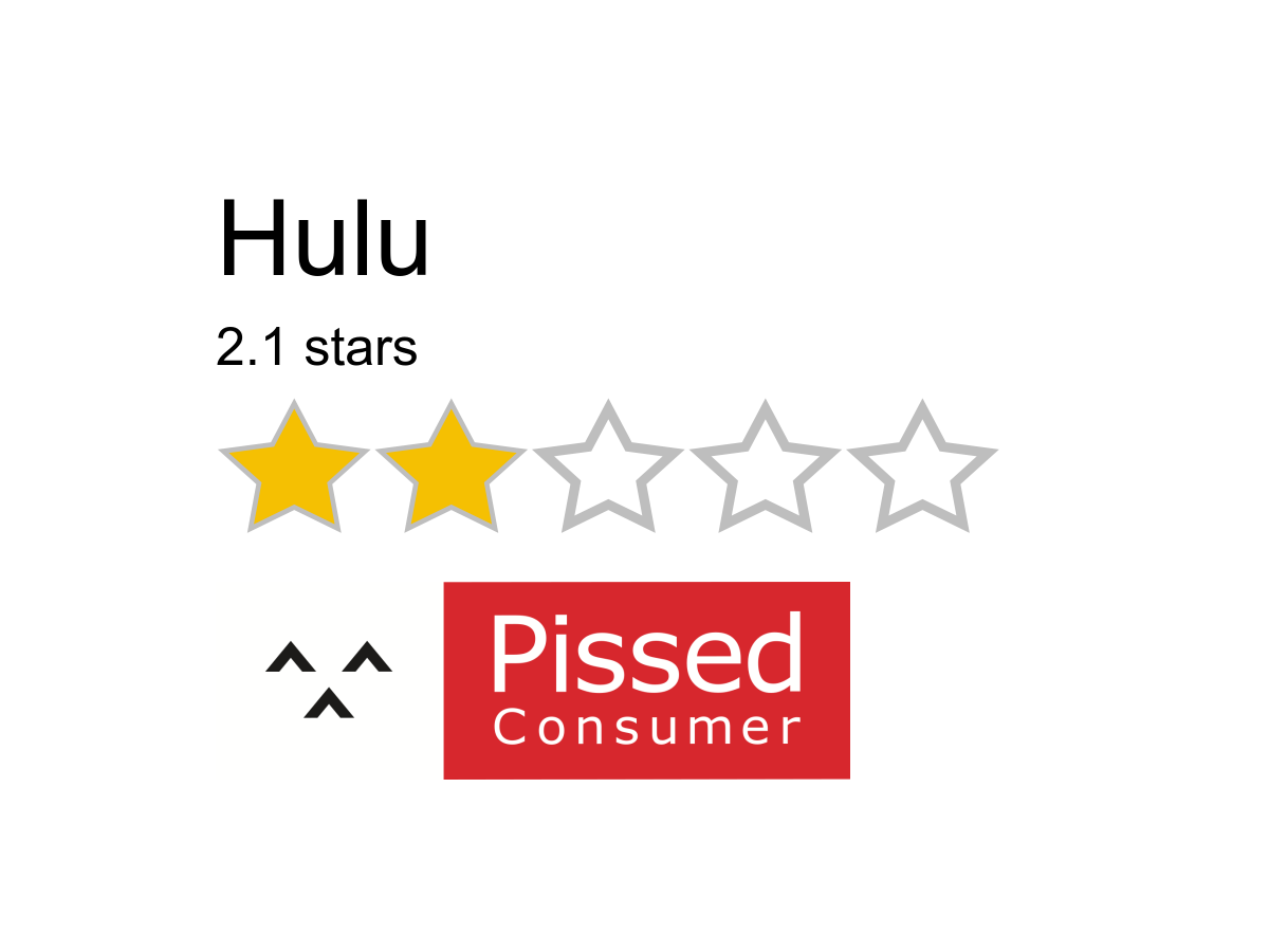 2360 Hulu Reviews And Complaints Pissed Consumer