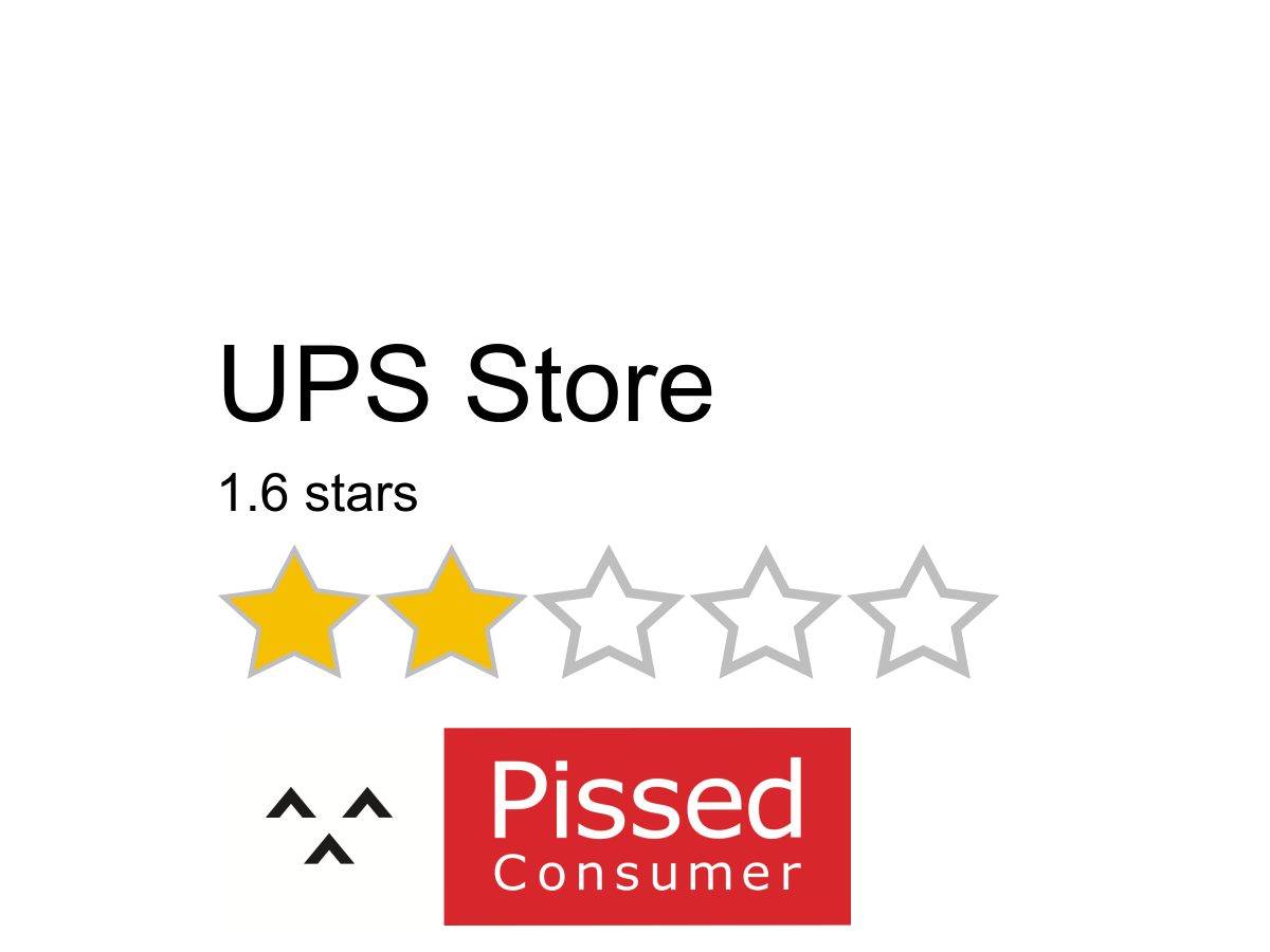 Ups Store Reviews And Complaints Pissed Consumer Page 2