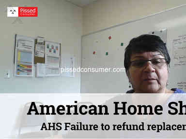 American Home Shield - AHS Failure to refund replacement of non-repairable water heater.