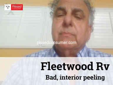Fleetwood Rv - Bad, interior peeling