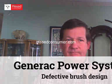 Generac Power Systems - Defective brush design - repeated failures