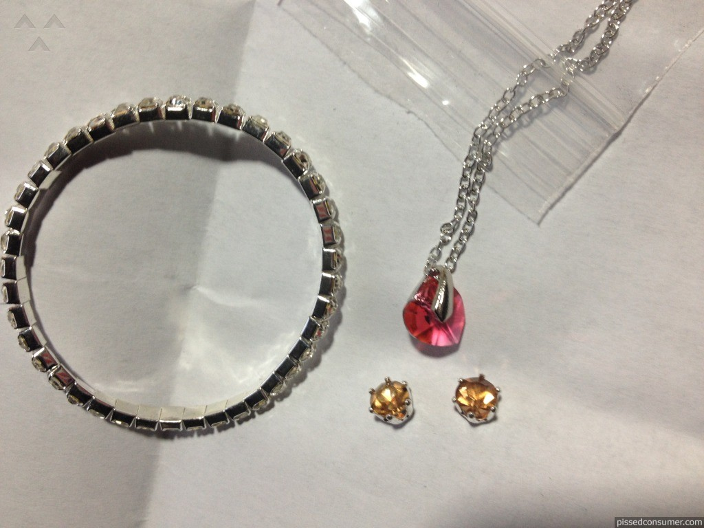 "Groupon - Swarovski Elements Three-Piece Jewelry Mystery Christmas Gift  ""JUNK"""