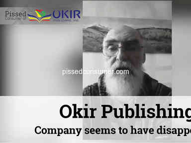 Okir Publishing - Ripped off! Company seems to have disappeared!