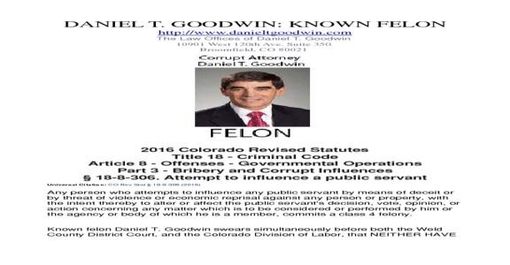 The Law Offices Of Daniel T Goodwin - Daniel T. Goodwin Broomfield Colorado Attorney