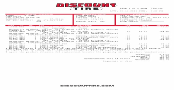 Discount Tire - Going back on your promise makes you a liar