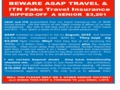 Asap Tickets - ASAP Travel and ITN insurance ripped me off.