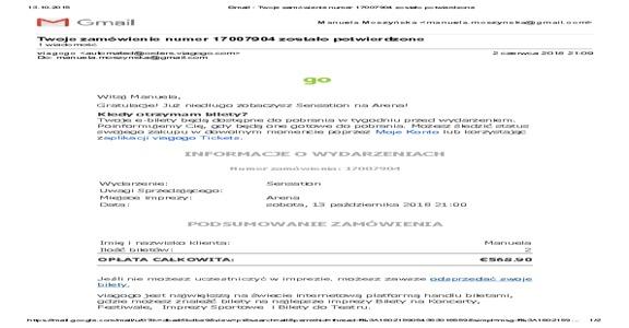 Viagogo - Complaint