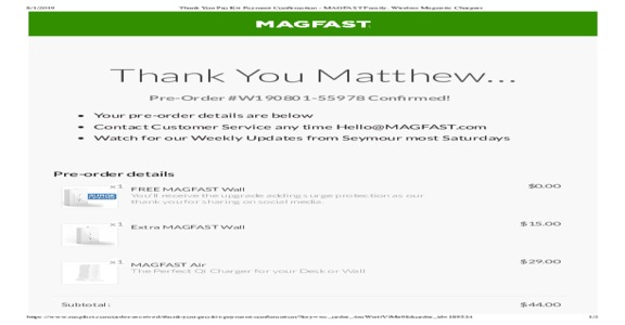 MAGFAST - Well- Almost $300 later, and nothing.