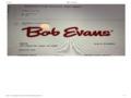 Bob Evans Restaurants - Overall poor experience