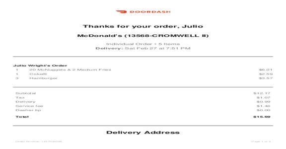 DOORDASH - I Never Received My Order Or Refund