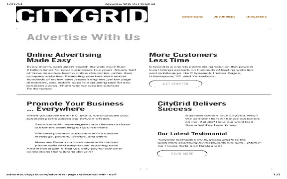 CityGrid Media - DECEPTIVE SALES PRACTICES