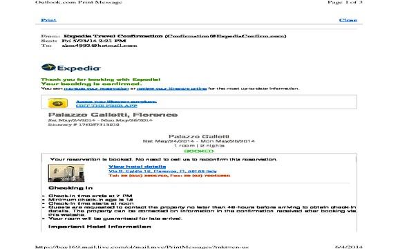 Expedia - Website error
