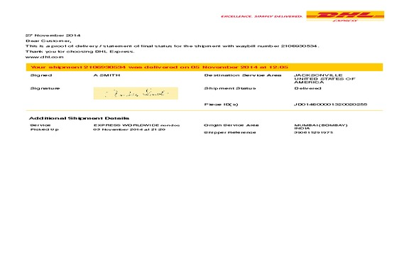 DHL lost my package, admitted fault and refused to cover my cost!