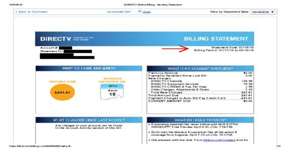 DirecTV billing practices