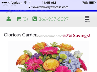 Flower Delivery Express - Arrangement Review from Cleveland, Ohio