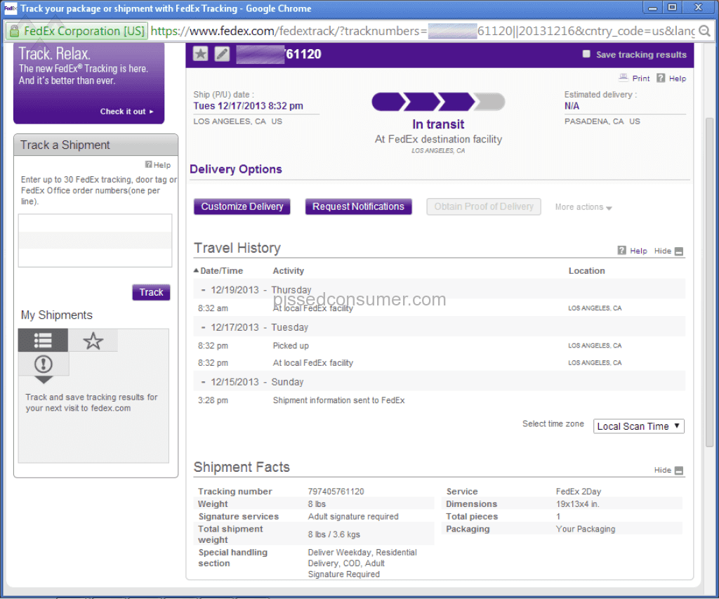 FedEx (again) - read how they managed it to destroy my life! Jan 30 ...