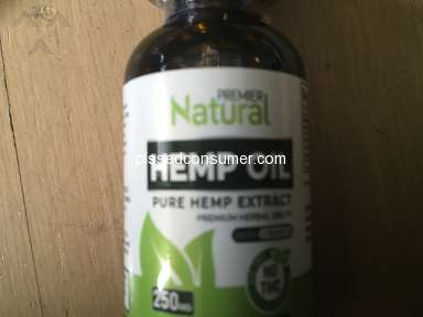 Premier Natural Hemp Oil - Worst customer service experience