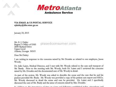 Metro Atlanta Ambulance Service Other review 173730