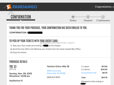 Fandango Ticket Scam