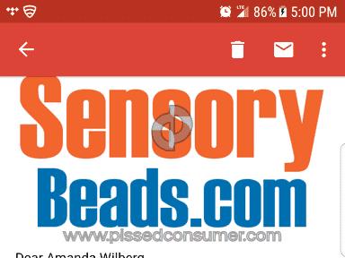 SensoryBeads Com - Shipping Service Review