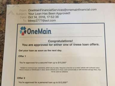 Onemain Financial - Customer Care Review from Queens Village, New York
