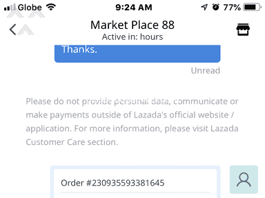 Lazada Philippines - Prepaid Lazada Order not good. In case of loss, consumer alone seems to bear the loss
