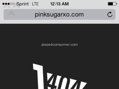 Pink Sugar XO - Pinksugarxo.com/Bigcartel - website shut down for stealing from customers