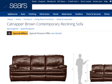 Sears - Advertised Item Not Available
