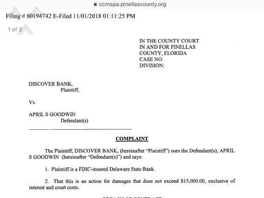 The Goodwin Firm - April S. Goodwin sued for not paying her credit card bills..huh? Why would I hire this lawyer??