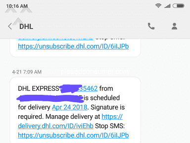 DHL package has not arrived. Been 3 weeks now!