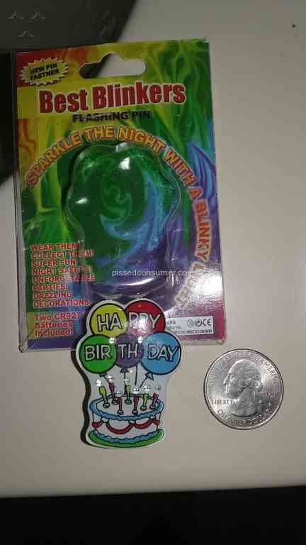Party City Birthday Cake Lapel Pins Review Mar 09 2017 Pissed