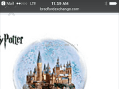 The Bradford Exchange - HARRY POTTER SNOW GLOBE