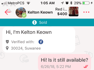 Letgo - FRAUDULENT DEVICES ALTERED SOLD AS APPLE PRODUCT
